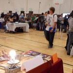 Students came out to the career fair to explore options available to them after graduation.