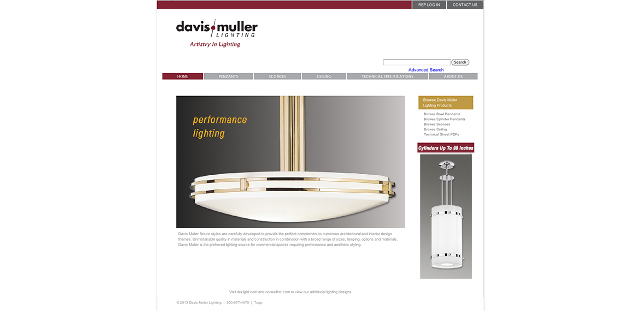Davis / Muller Lighting Launches Redesigned Website