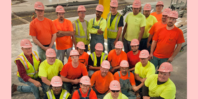 350+ Gibson Electric Construction Workers Wear Pink Hard Hats at Chicagolan…